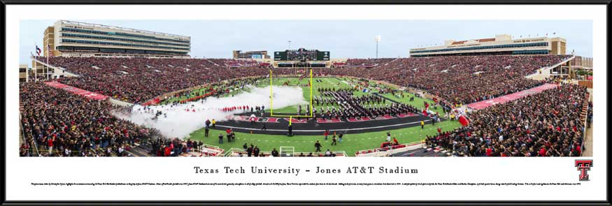 College - Texas Tech Red Raiders - Jones ATT Stadium 2014 - Framed Picture