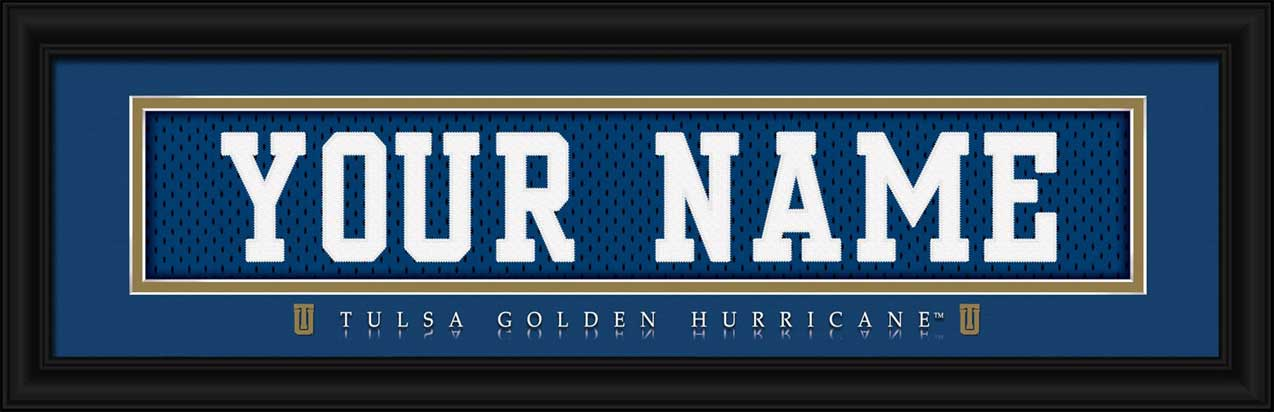 College - Tulsa Golden Hurricane - Personalized Jersey Nameplate - Framed Picture