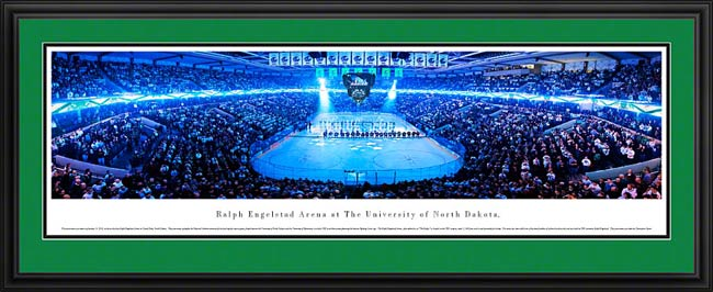 College - University of North Dakota - The Ralph 2012 - End Zone - Framed Picture