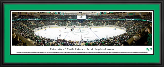 College - University of North Dakota - Ralph Engelstad Arena - Framed Picture