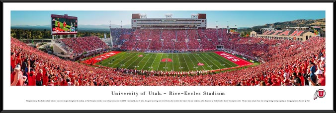 College - Utah Utes - Rice-Eccles Stadium - Sea of Red - Framed Picture