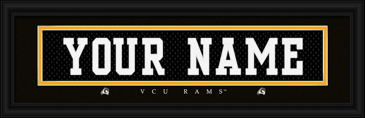 College - Virginia Commonwealth Rams - Personalized Jersey Nameplate - Framed Picture