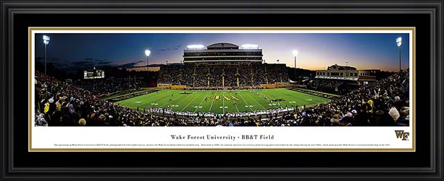 College - Wake Forest Demon Deacons - BBT Field - Framed Picture