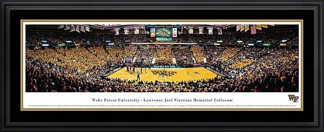 College - Wake Forest Demon Deacons - Lawrence Joel Veterans Memorial - Framed Picture