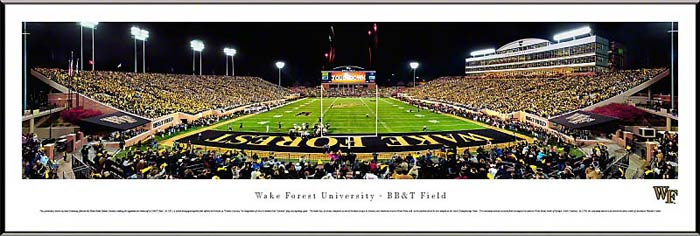 College - Wake Forest Demon Deacons - BBT Field - End Zone - Framed Picture