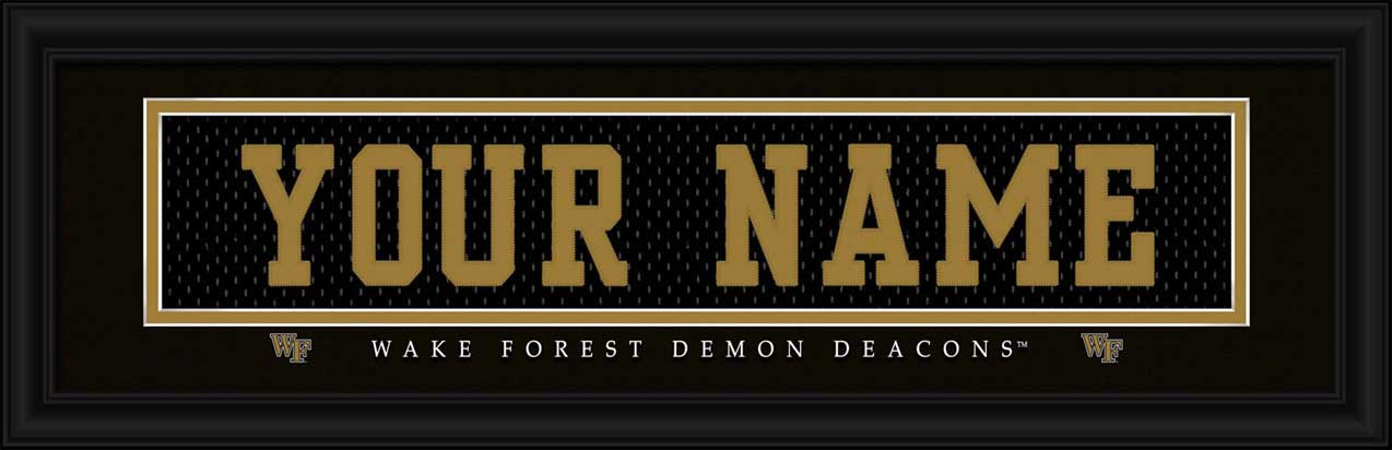 College - Wake Forest Demon Deacons - Personalized Jersey Nameplate - Framed Picture