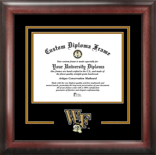 College - Wake Forest University Demon Deacons - College Mascot - Spirit Mat Cutout - Diploma Frame