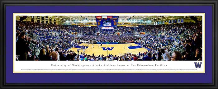 College - Washington Huskies - Hec Edmundson Pavilion - Framed Picture