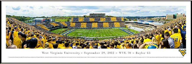 College - West Virginia Mountaineers - Stripe the Stadium 2012 - Framed Picture