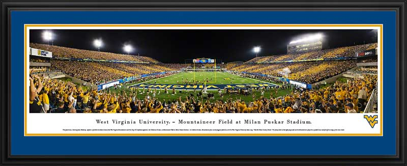 College - West Virginia Mountaineers - Stripe the Stadium 2014 - Framed Picture
