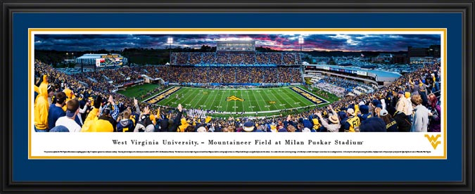 College - West Virginia Mountaineers - Milan Puskar Stadium - Framed Picture
