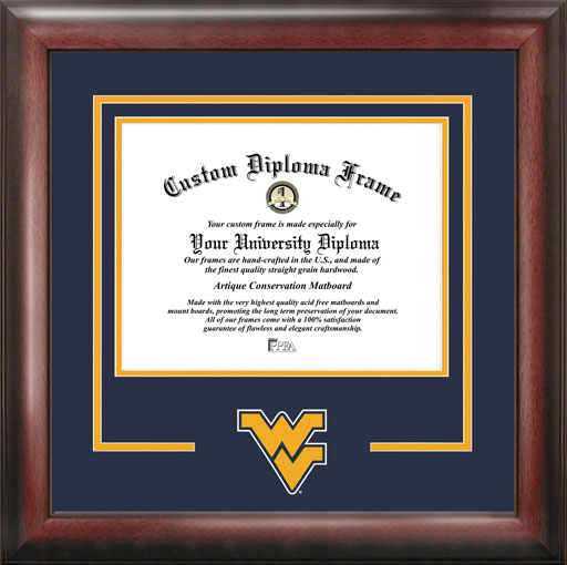 College - West Virginia University Mountaineers - College Logo - Spirit Mat Cutout - Diploma Frame