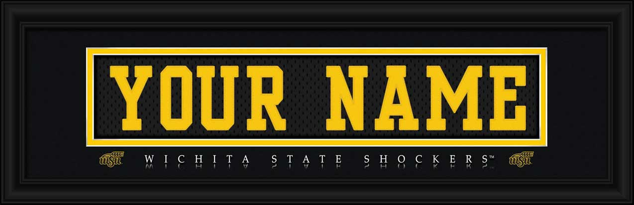 College - Wichita State Shockers - Personalized Jersey Nameplate - Framed Picture