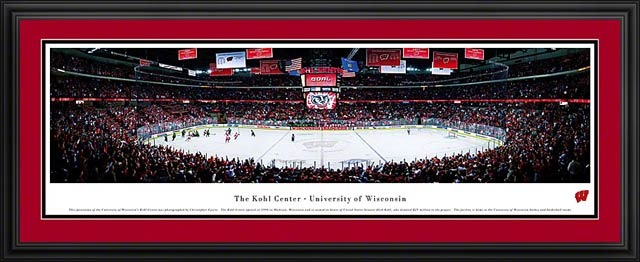 College - Wisconsin Badgers - Kohl Center - Framed Picture