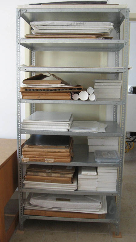 Steel Shelving for Storing Small Posters