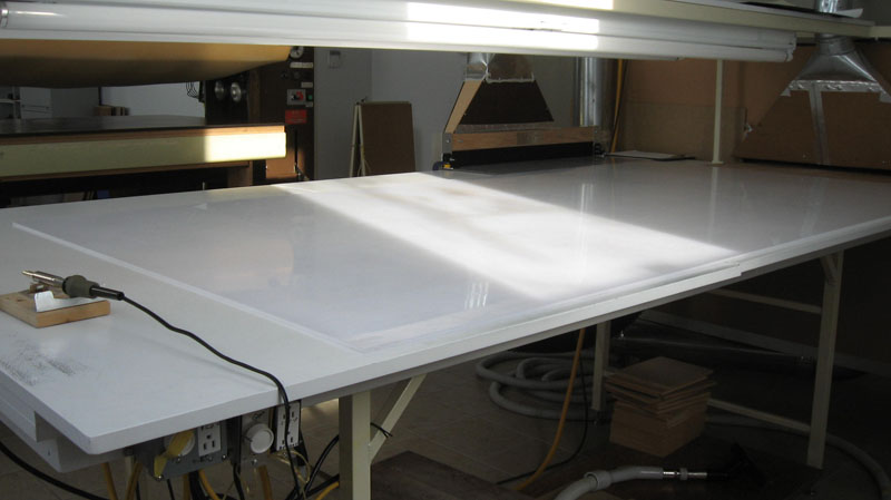 Assembly Table After the Friz Cleaner