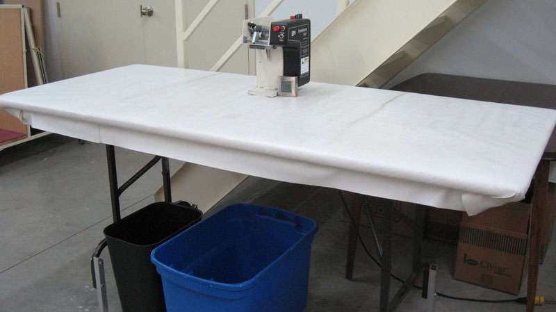 Folding Table for Wrapping Product with Styrofoam