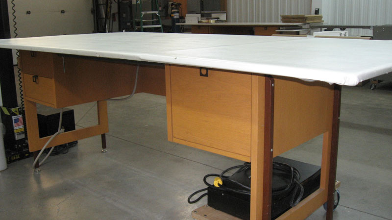Large Table for Wrapping Product with Styrofoam