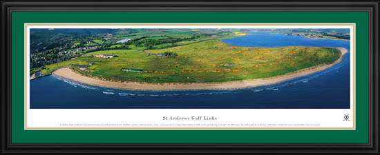 Golf Courses Framed Panoramic Poster Print - St Andrews Golf Links ...