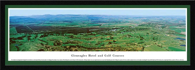 Golf - Golf Courses - Gleneagles - Framed Picture