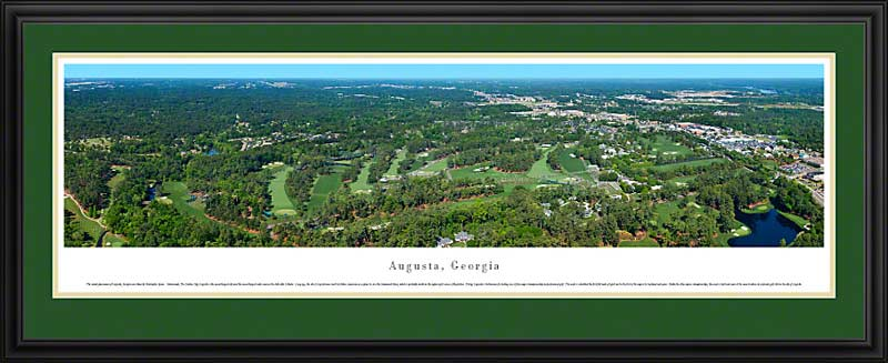 Golf Courses Posters & Pebble Beach Panoramic Prints | PGA Framed ...