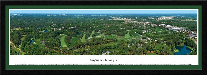 Golf - Golf Courses - Augusta - Georgia - Framed Picture