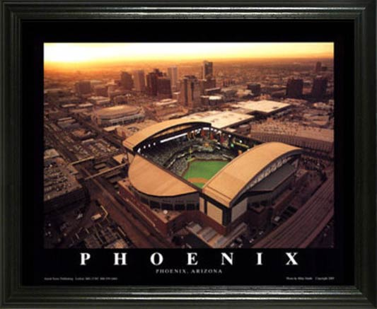 MLB - Arizona Diamondbacks - Chase Field Aerial - Lg - Framed Picture