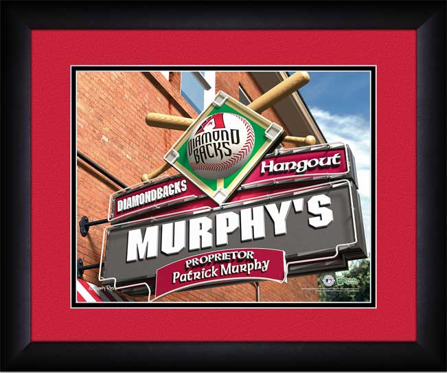MLB - Arizona Diamondbacks - Personalized Hangout Sign - Framed Picture