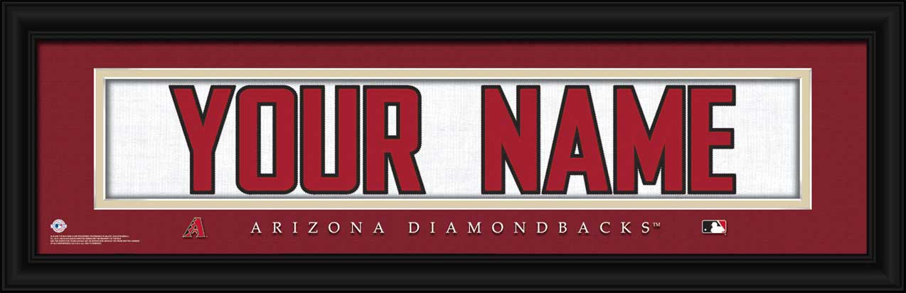 MLB - Arizona Diamondbacks - Personalized Jersey Nameplate - Framed Picture