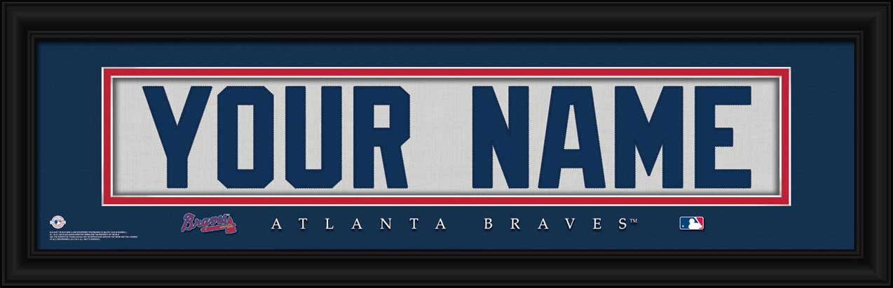 MLB - Atlanta Braves - Personalized Jersey Nameplate - Framed Picture