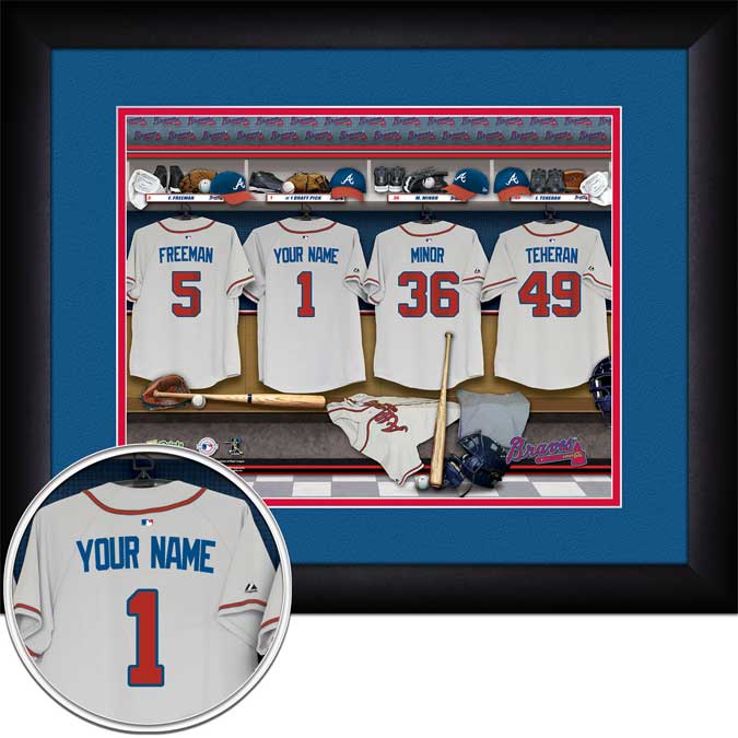 MLB - Atlanta Braves - Personalized Locker Room - Framed Picture