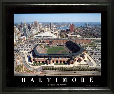 MLB - Baltimore Orioles - Camden Yards Aerial - Day - Lg - Framed Picture