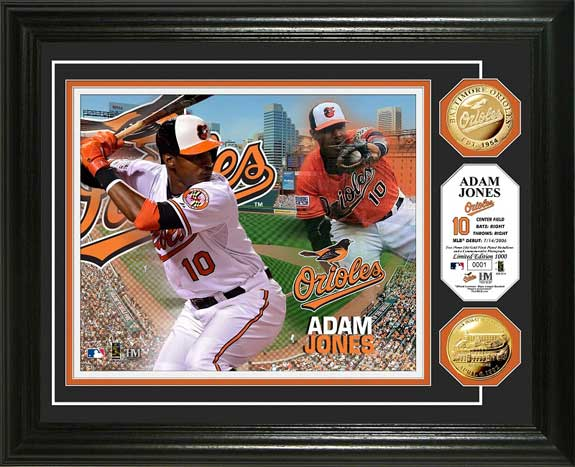 MLB - Baltimore Orioles - Adam Jones - Gold Coins - Framed Picture