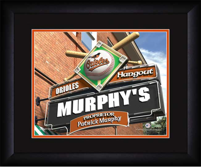 MLB - Baltimore Orioles - Personalized Hangout Sign - Framed Picture