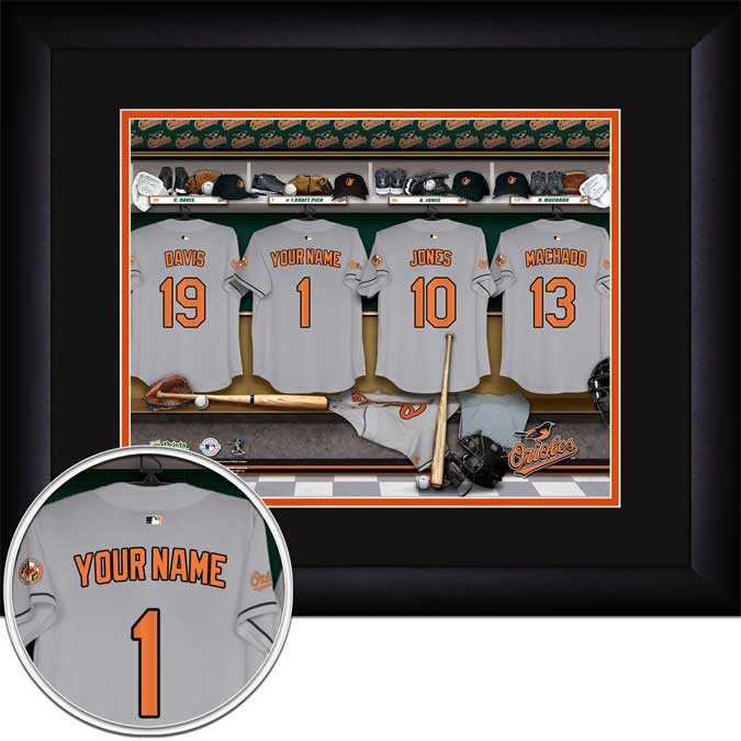 MLB - Baltimore Orioles - Personalized Locker Room - Framed Picture