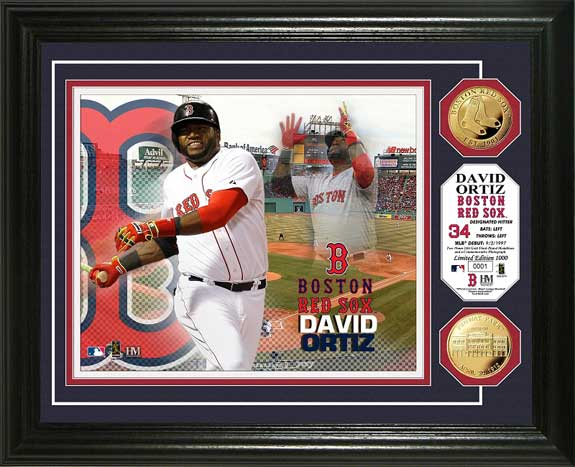 MLB - Boston Red Sox - David Ortiz - Gold Coins - Framed Picture