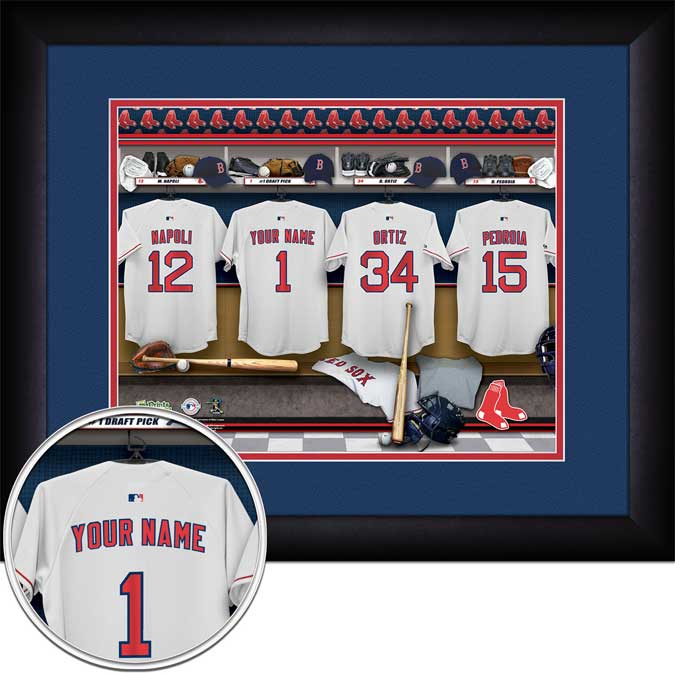MLB - Boston Red Sox - Personalized Locker Room - Framed Picture