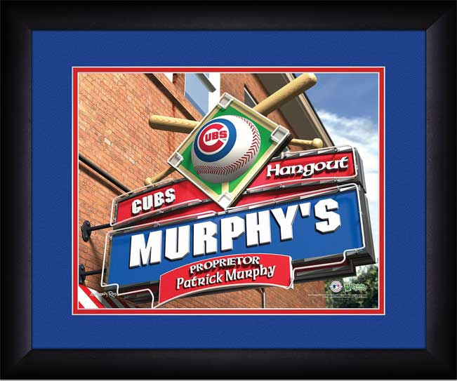 MLB - Chicago Cubs - Personalized Hangout Sign - Framed Picture