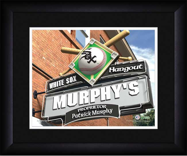 MLB - Chicago White Sox - Personalized Hangout Sign - Framed Picture