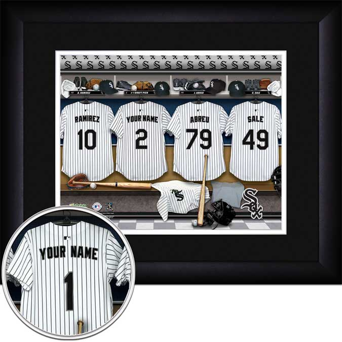 MLB - Chicago White Sox - Personalized Locker Room - Framed Picture