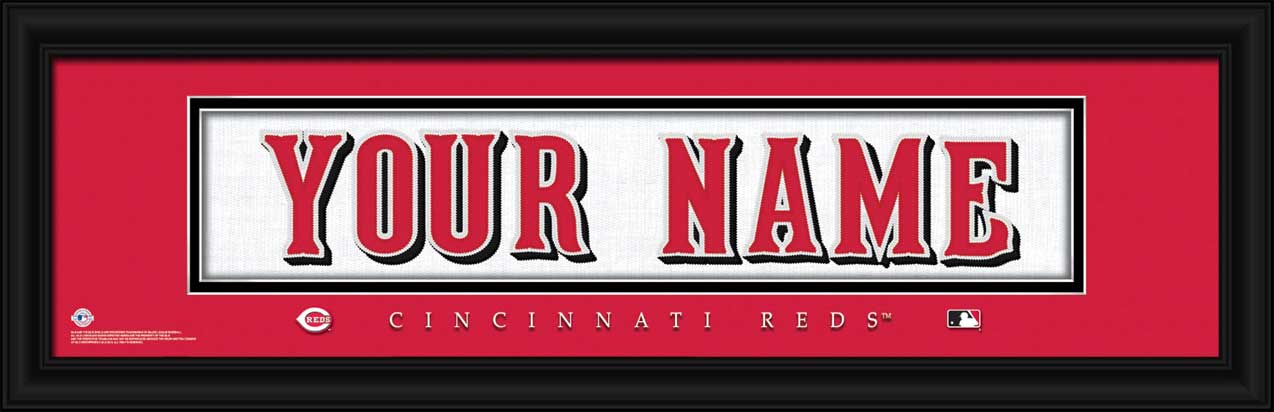 MLB - Cincinnati Reds - Personalized Jersey Nameplate - Framed Picture