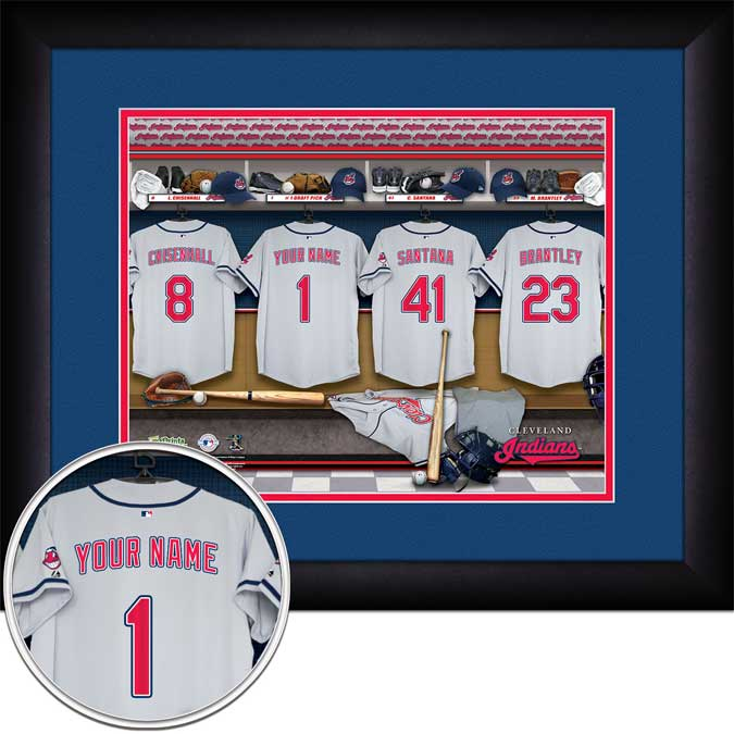 MLB - Cleveland Indians - Personalized Locker Room - Framed Picture