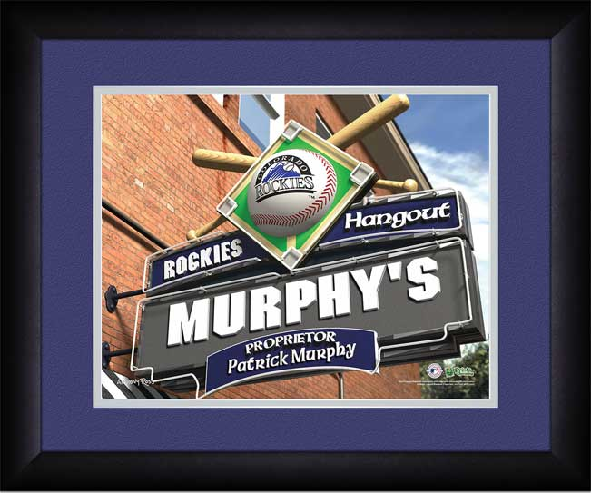 MLB - Colorado Rockies - Personalized Hangout Sign - Framed Picture