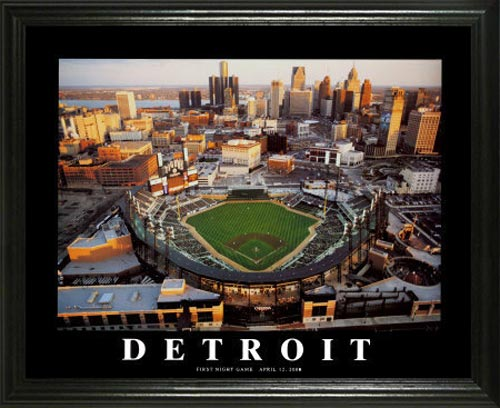 MLB - Detroit Tigers - Comerica Park Aerial - Lg - Framed Picture