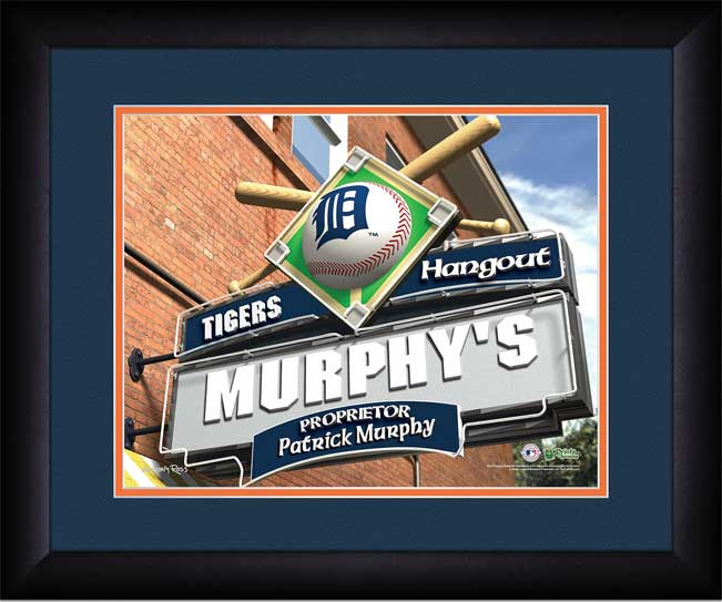 MLB - Detroit Tigers - Personalized Hangout Sign - Framed Picture