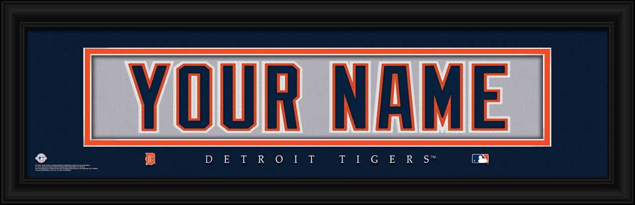 MLB - Detroit Tigers - Personalized Jersey Nameplate - Framed Picture