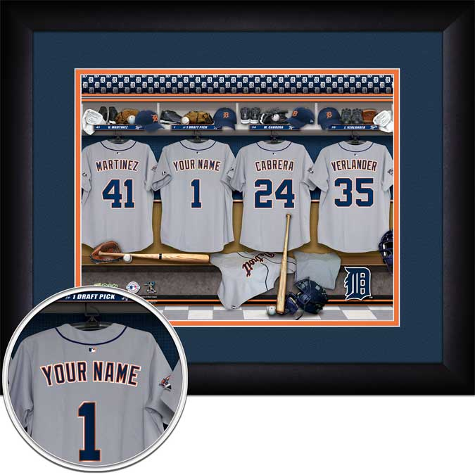 MLB - Detroit Tigers - Personalized Locker Room - Framed Picture