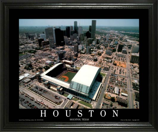 MLB - Houston Astros - Minute Maid Park Aerial - Lg - Framed Picture
