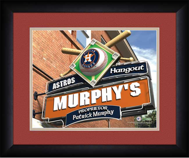 MLB - Houston Astros - Personalized Hangout Sign - Framed Picture