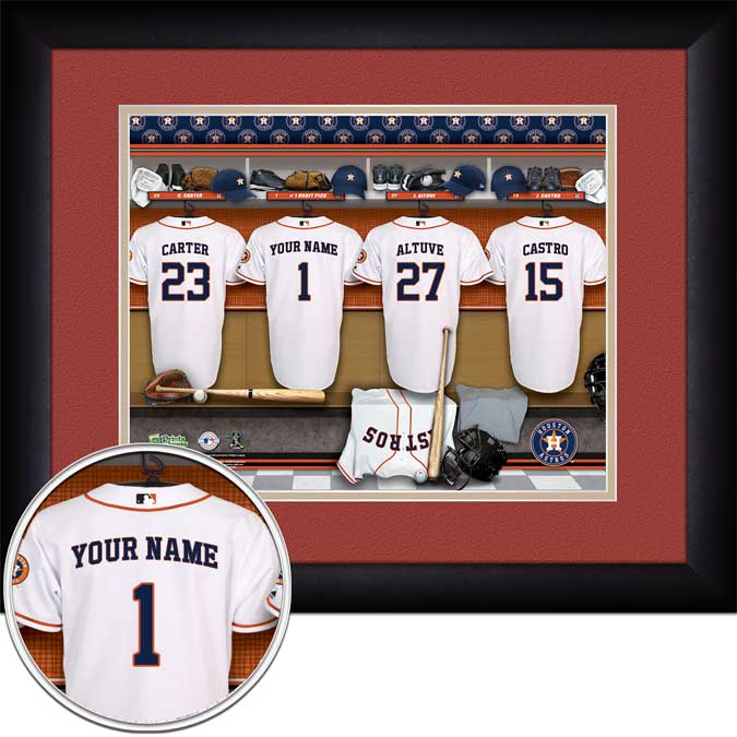 MLB - Houston Astros - Personalized Locker Room - Framed Picture
